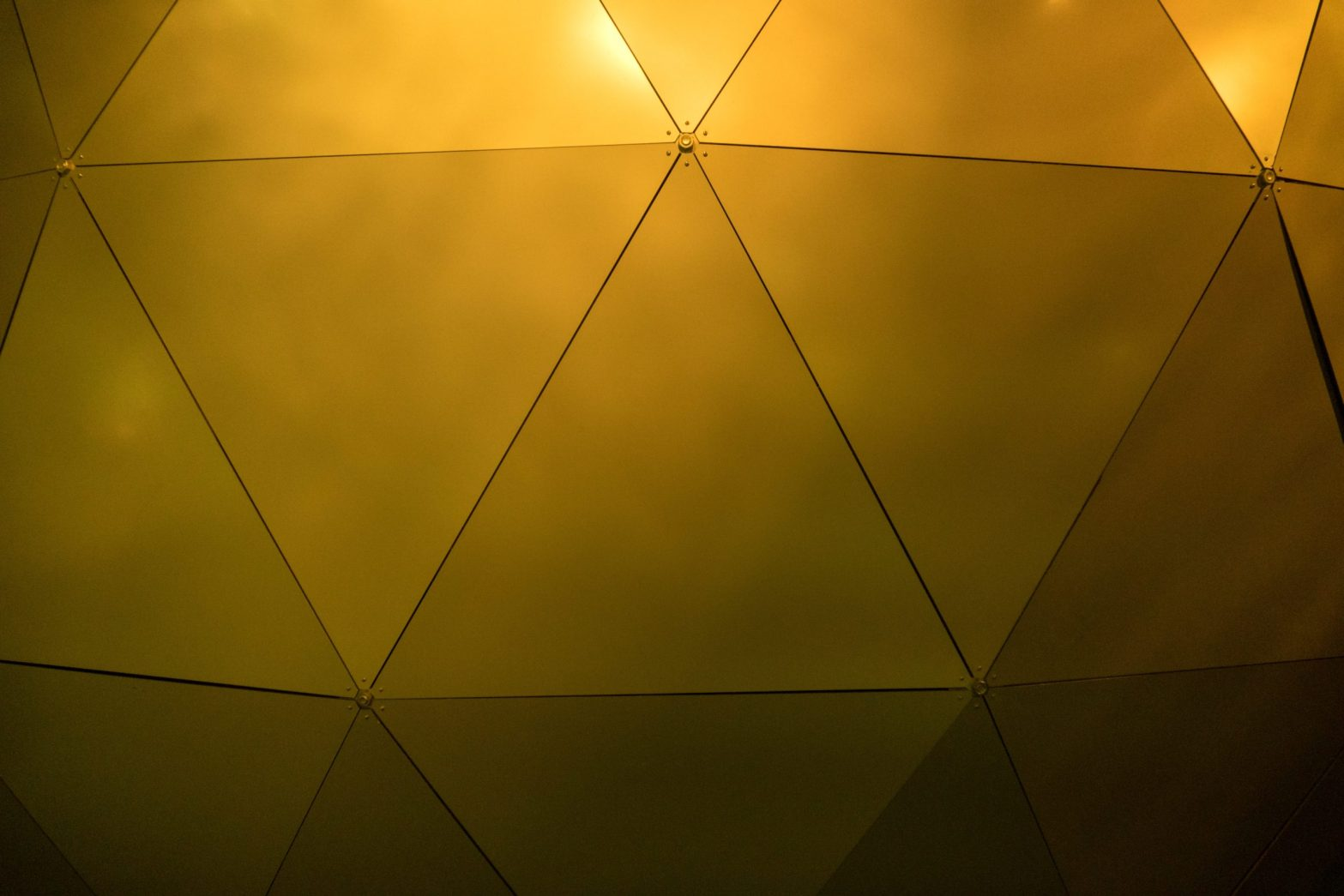 Gold geodesic wall photo