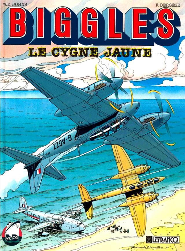 biggles-cover-el-cisne-amarillo-Francis-Bergese