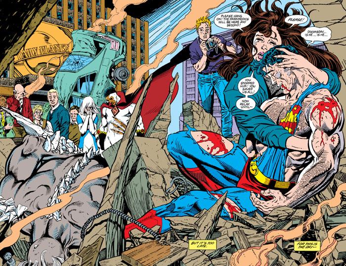 la-muerte-de-superman-doble-pagina
