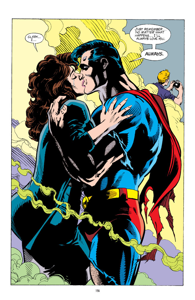 la-muerte-de-superman-pagina-beso-lois-lane