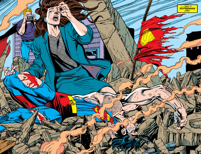 la-muerte-de-superman-pagina-doble