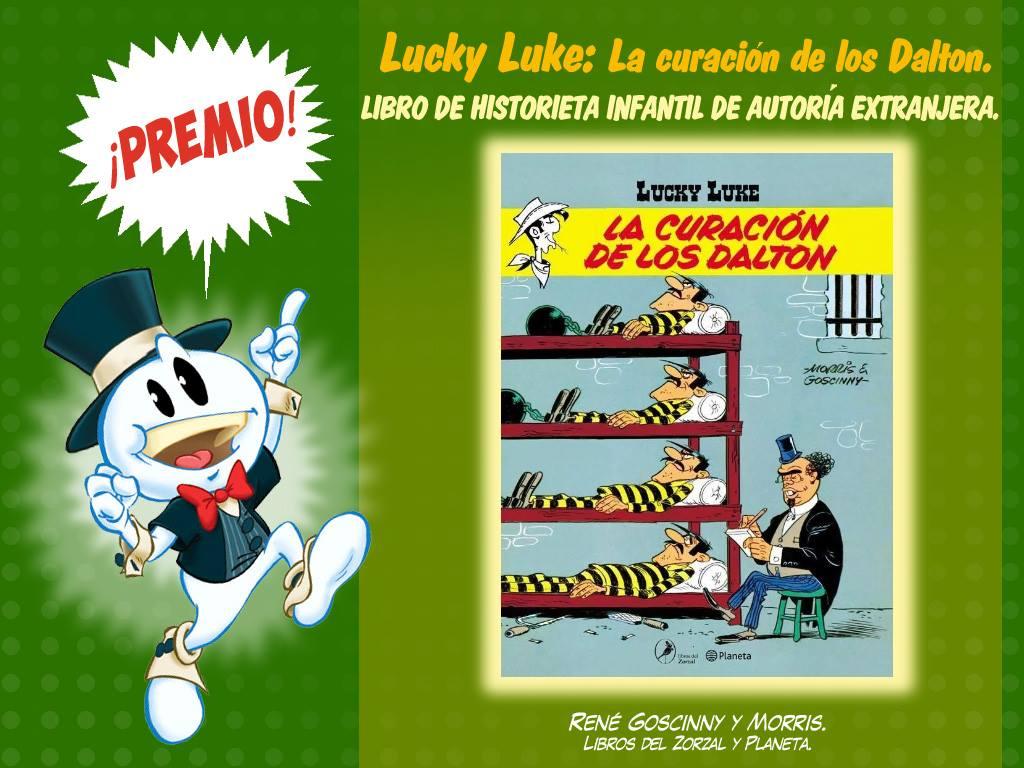 Libro de historieta infantil de autoría extranjera-lucky luke - la curacion de los dalton - rene goscinny, morris