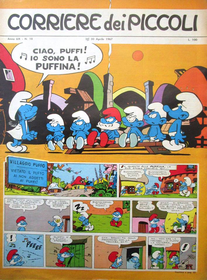peyo-pitufos-pitufina-italiano-puffi-puffina