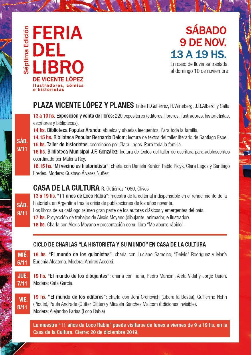 2019-11 - Cronograma Feria del Libro e Ilustradores VL 2019