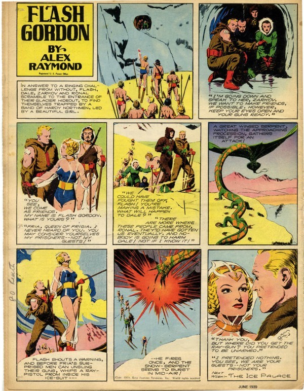 fundadores-del-comic-alex-raymond-flash-gordon
