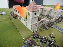 French light cavalry skirt the town for easier prey elsewhere