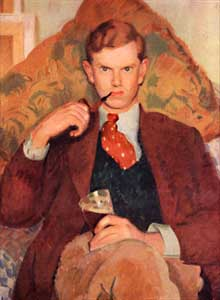 Evelyn Waugh, Aged 26, from the portrait by Henry Lamb in the collection of Lord Moyne. Cr: Little, Brown & Co. Memo-hardcopy: 38304