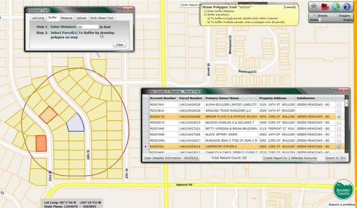 GIS buffering web app functionality