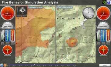 GIS Web App for Wildfire Behavior Simulation.