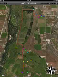 Combining high resolution aerial imagery of the ranch