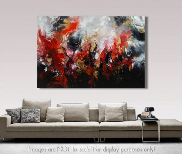Burning Love - Abstract Acrylic Painting