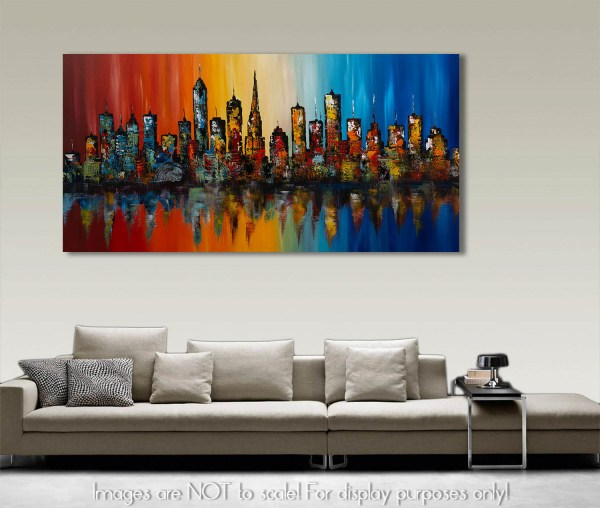 Summer In The City 13 - Abstract Cityscape Skyline Painting