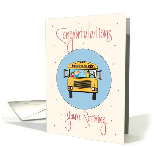 Wanted New Cards Retirement Bus Driver School Bus
