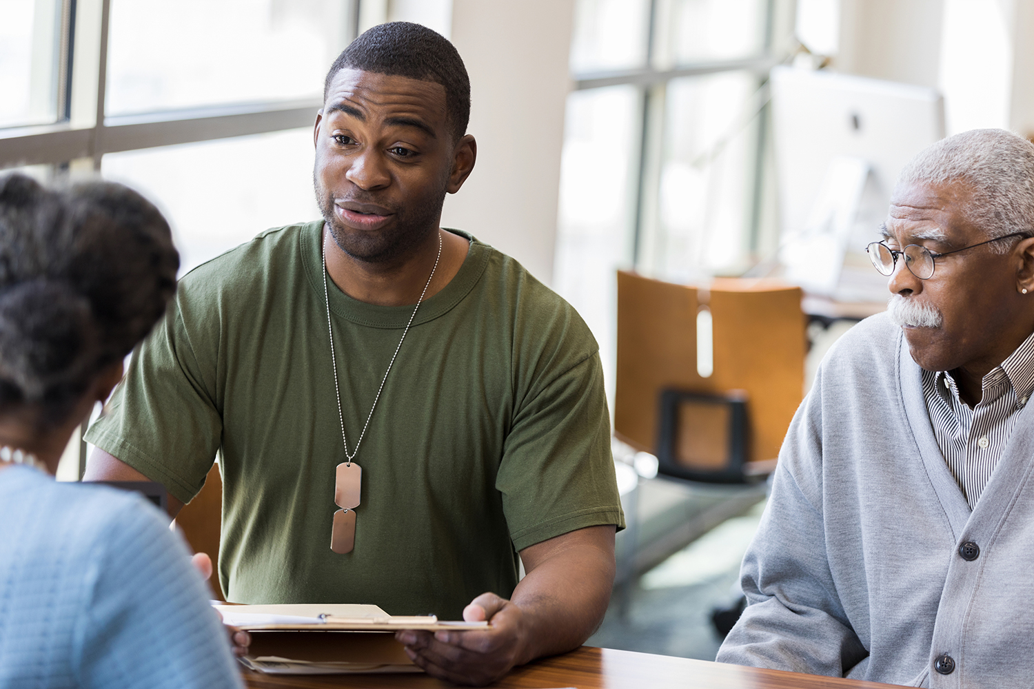 Military veteran meets with Financial Advisor, Financial Coaching for Veterans