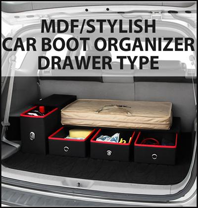 Qoo10 Premium Car Boot Organizer MDF Drawer Car