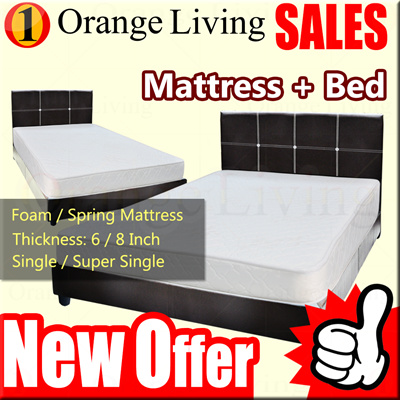Qoo10 Furniture S Single Super Mattress With Bedframe Package Deco