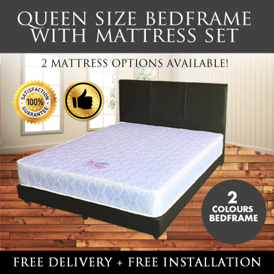 Qoo10 Singapore Mattress Queen Bed Frame Spring 2 Avail Furniture Deco