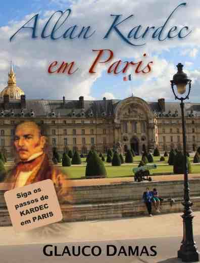 Capa do guia de viagem'Allan Kardec em Paris'