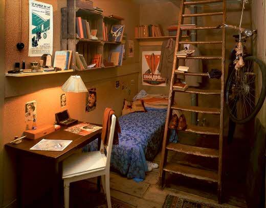 Museu Anne Frank - Quarto de Peter