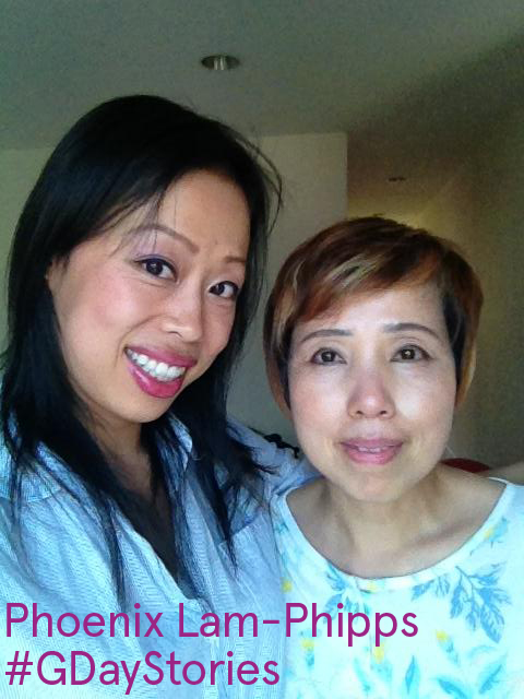 Phoenix Lam and her mom