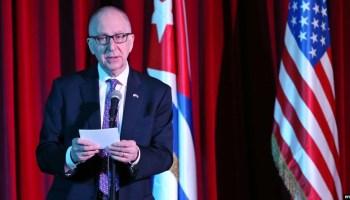 David J. Skorton, Secretario del Instituto Smithsonian, durante su visita a Cuba en abril pasado.