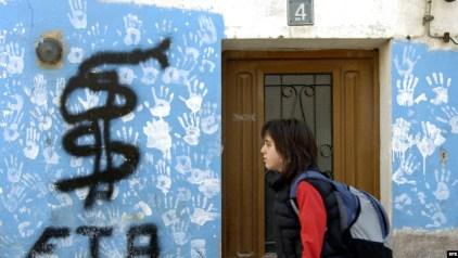 El logo de ETA en una pared de Navarra.