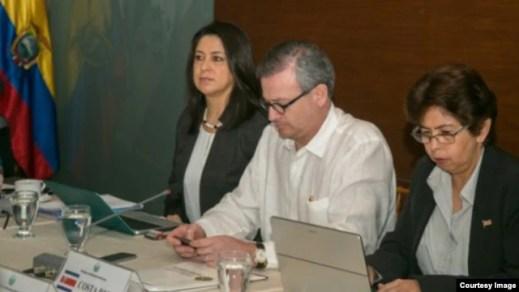 Canciller de Costa Rica, Manuel A. González, en conferencia de SICA.