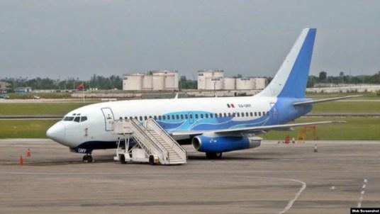 El Boeing 737-200 matrícula XA-UHY, uno de los aviones de Global Air auditados en 2008-2009 por el inspector de Cubana Ernesto Rodríguez Martín