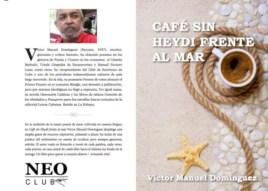 Portada del libro Café sin Heydi frente al mar, de Víctor Domínguez.