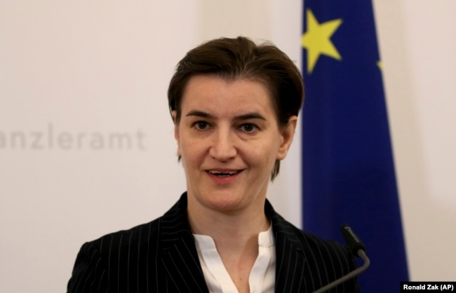Serbian Prime Minister Ana Brnabic (file photo)