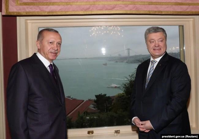 Реджеп Тайїп Ердоган і Петро Порошенко у Стамбулі, 5 січня 2019 року