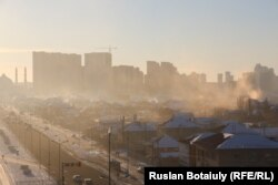 Despite being located on a windy steppe, coal fires have had a detrimental effect on air quality in the Kazakh capital, Nur-Sultan. (file photo)