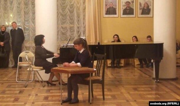 Выступ навучэнцаў музычнай школы