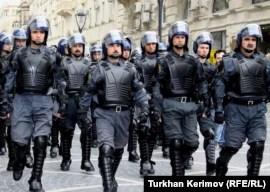 Azerbaijani riot police