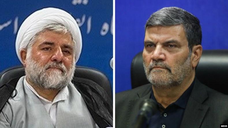 از راست به چپ: ابوالقاسم صلواتی و محمد ناصر مقیسه