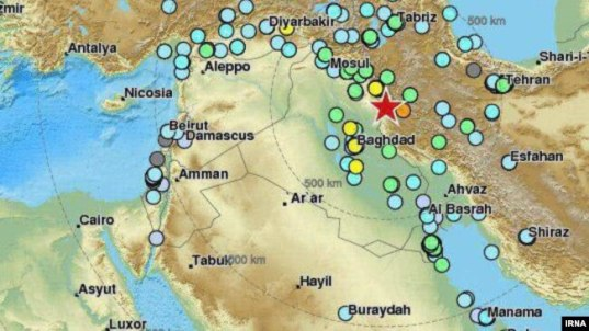 More than 348 dead thousands injured in powerful iran iraq quake powerful earthquake struck near the iran iraq border on november 12 map gumiabroncs Gallery