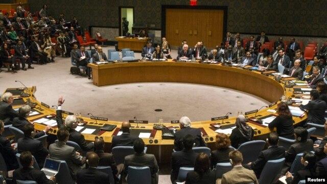 Sa jedne od sjednica Savjeta bezbjednosti UN u Njujorku, april 2015.