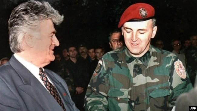 Željko Ražnatović Arkan sa Radovanom Karadžićem, 23. oktobar 1995.