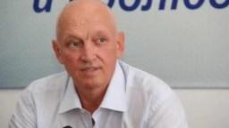 Оппозиционный политик Владимир Козлов на пресс-конференции после своего освобождения, куда он был помещен после приговора по обвинению в разжигании социальной розни. Алматы, 22 августа 2016 года.