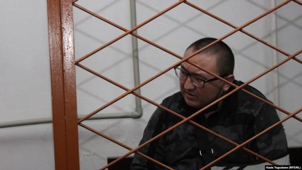 Жулдызбек Таурбеков в суде. Алматы, 4 декабря 2019 года.