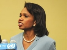 U.S. -- US Secretary of State Condoleezza Rice at UN headquarters in New York, 19Jun2008