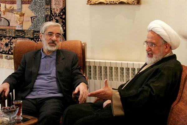 دیدار 2 ساعته میرحسین موسوی و مهدی کروبی