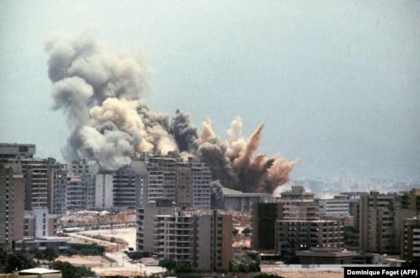 """Операция """"Мир Галилее"""", 2 августа 1982 года. Последствия ударов израильской авиации по Бейруту"""
