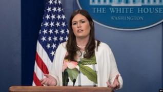 سارا سندرز، سخنگوی کاخ سفید،