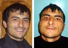 Kudayev, before and after his detention (file photo)