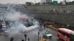 تصویری از اعتراضات آبان ماه در تهران