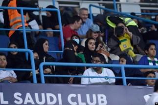 حضور زنان سعودی در استادیوم دانشگاه ملک سعود در جریان بازی دوستانه عربستان و برزیل در پاییز سال گذشته