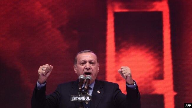 Recep Tayyip Erdogan, 12 aprel 2017