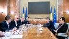 Lideri de sindicat, între care se află Dumitru Costin (mijloc), la o întâlnire cu premierul Ludovic Orban