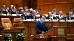 Premierul Florin Cîțu în Parlament, decembrie 2020